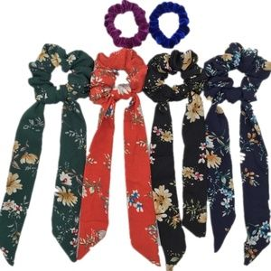 Accessories - 🆕 🎀 4 Different Ribbon Floral Hair Scrunchies